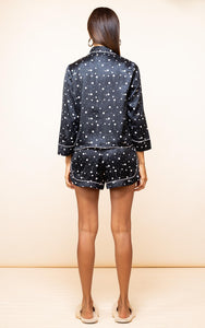 Oonah Shortie Pyjama Set in Black Speckle