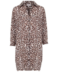 Jericho Shirt Dress in Bare Leopard