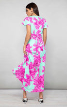 Load image into Gallery viewer, Cayenne Dress in Pink on Mint Bloom