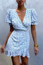Load image into Gallery viewer, Cuesta Mini Dress in Blue Floral