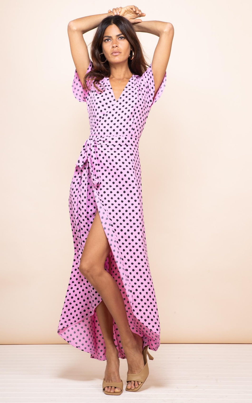 Cayenne Dress in Pink Dotty