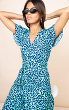 Load image into Gallery viewer, Cayenne Dress in Turquoise Leopard