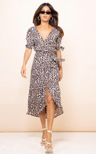 Load image into Gallery viewer, Olivera Midi Dress in Bare Leopard