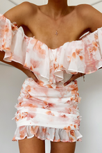 Load image into Gallery viewer, Anairo Dress in Peach Floral