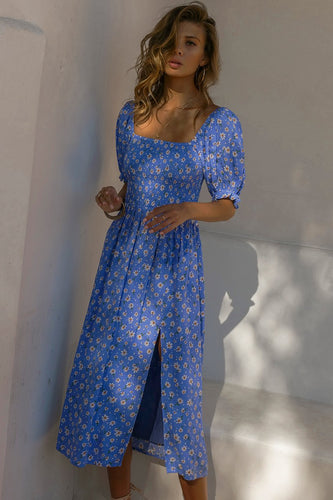 Meadow Shir Dress in Blue Floral