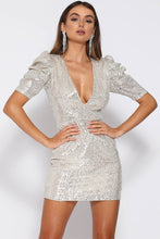 Load image into Gallery viewer, Disco Pouffe Mini Sequin Dress