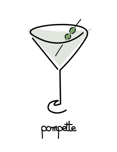 Poster cocktail pompette