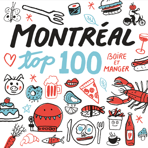 Map of Montreal top 100 - Eat and drink