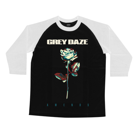 Grey Daze Rose Baseball T-Shirt + Digital Album