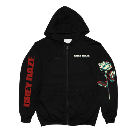 Grey Daze Pocket Logo Zip Up Hoodie