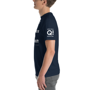 BIG & TALL: Quebec Alpha November Oscar November WWG1WGA | Sleeve Flag Logo Tee