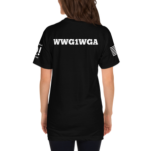All This Girl Needs Are QAnon Drops | Sleeve Flag Logo, Back WWG1WGA | Unisex Jersey Tee