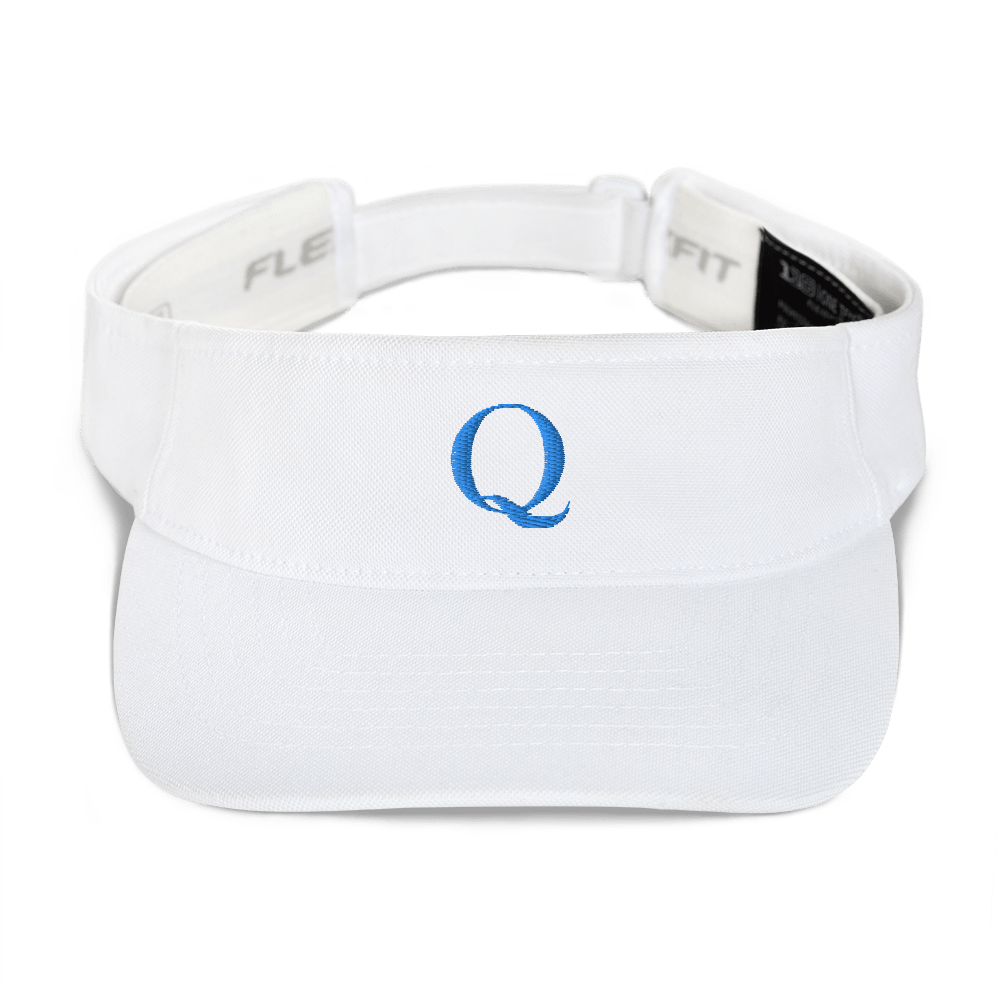 Simply Q Visor | Teal on White