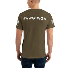 Load image into Gallery viewer, Got Popcorn? | Sleeve Flag Logo, Back WWG1WGA | Unisex Jersey Tee