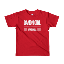 Load image into Gallery viewer, QAnon Girl WWG1WGA | Kids Unisex Tee | Ages 2-6 | Design #1