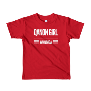 QAnon Girl WWG1WGA | Kids Unisex Tee | Ages 2-6 | Design #1