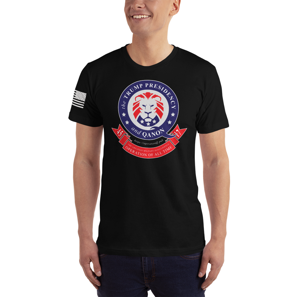 The Trump Presidency, A Military Operation Banner | Sleeve Flag Unisex Jersey Tee