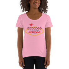 Load image into Gallery viewer, Welcome To The Great Awakening | Ladies' Scoopneck T-Shirt