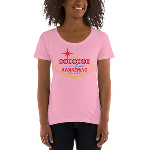 Welcome To The Great Awakening | Ladies' Scoopneck T-Shirt