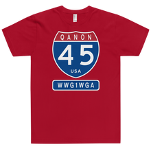 Load image into Gallery viewer, QAnon Interstate 45 USA WWG1WGA | Unisex Jersey Tee