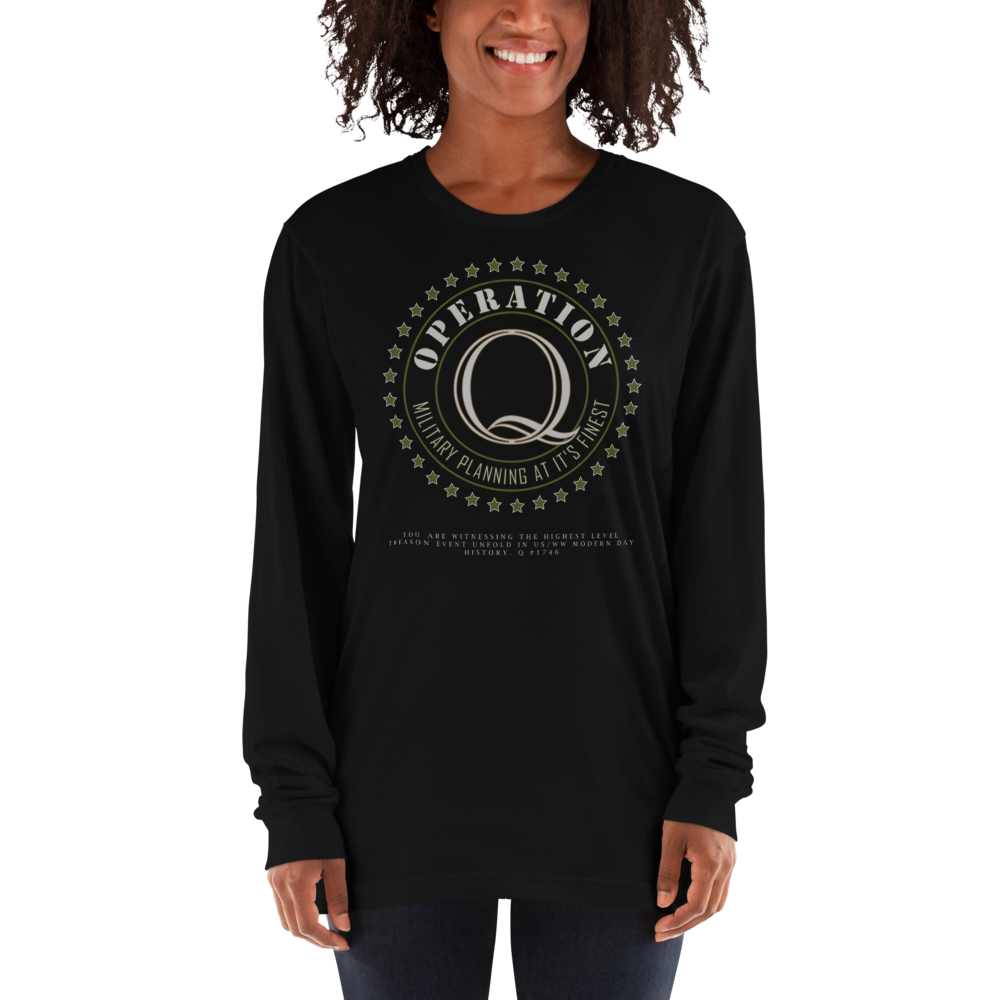 Operation Q | Back Tag Logo | Unisex Long sleeve Tee