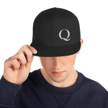 "Load image into Gallery viewer, Simply ""Q"" QAnon Embroidered Snapback Hat"