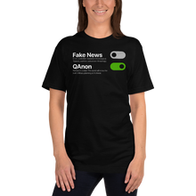 Load image into Gallery viewer, Switch Off Fake News, Switch On QAnon | Unisex Jersey Tee