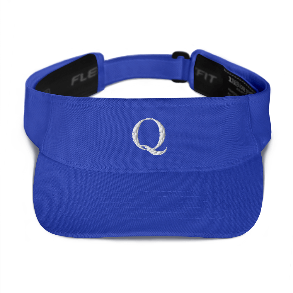 Simply Q Visor | White on Blue, Navy, Red or Black