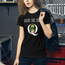 Load image into Gallery viewer, Enjoy The Show | Back Tag Logo | Women's Slim Fit T-Shirt