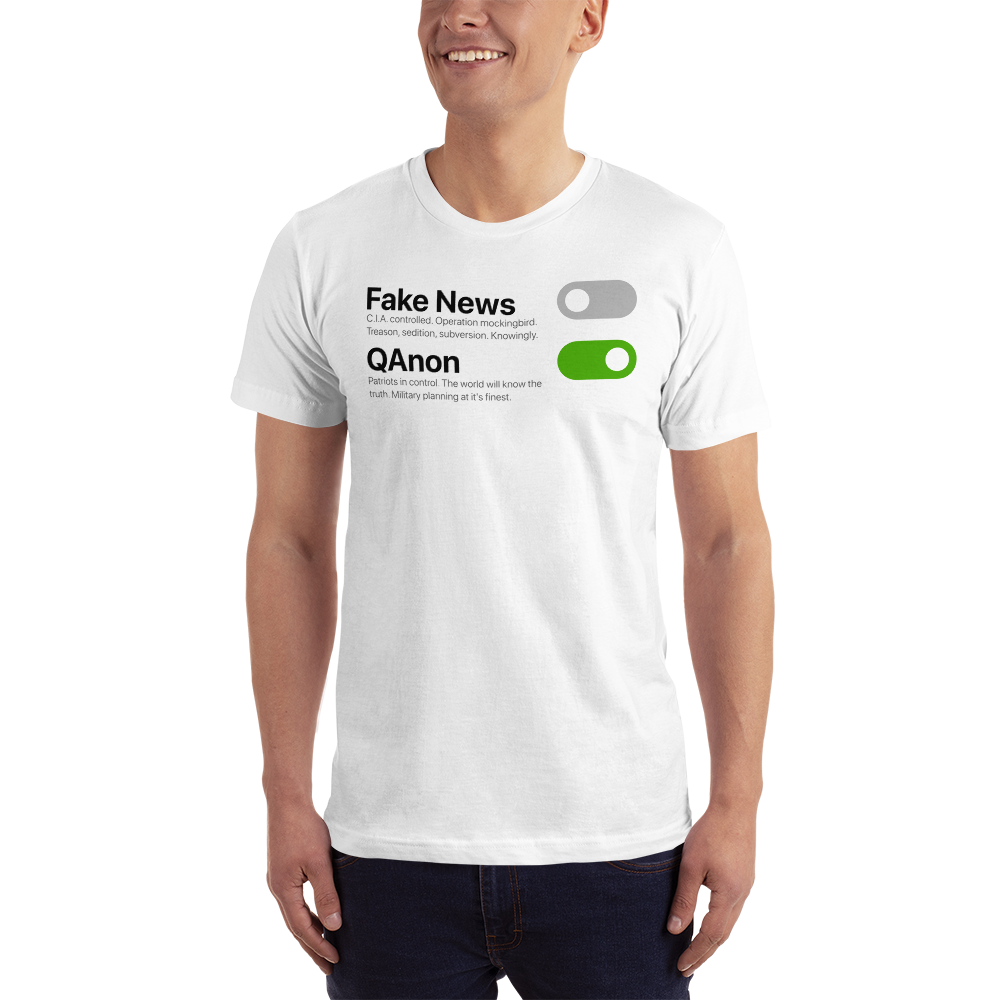 Switch Off Fake News, Switch On QAnon | Unisex Jersey Tee