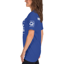 Load image into Gallery viewer, All This Girl Needs Are QAnon Drops | Sleeve Flag Logo, Back WWG1WGA | Unisex Jersey Tee
