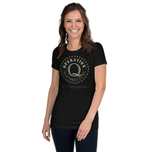 Load image into Gallery viewer, Operation Q | Back Tag Logo | Women's Slim Fit T-Shirt