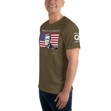 Load image into Gallery viewer, American Patriot - Lieutenant General Michael Flynn | Sleeve Flag Logo | Unisex Jersey Tee