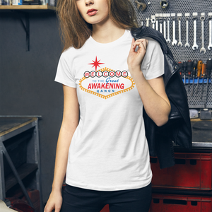 Welcome To The Great Awakening | Women's Slim Fit T-Shirt