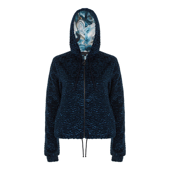 Rockin' Blues Reversible Hoodie - Room 24 - Evellier