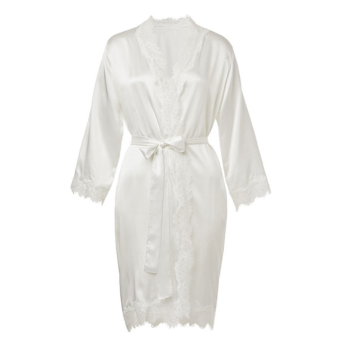 Scarlett Short Wrap Gown Ivory - Sainted Sisters - Evellier