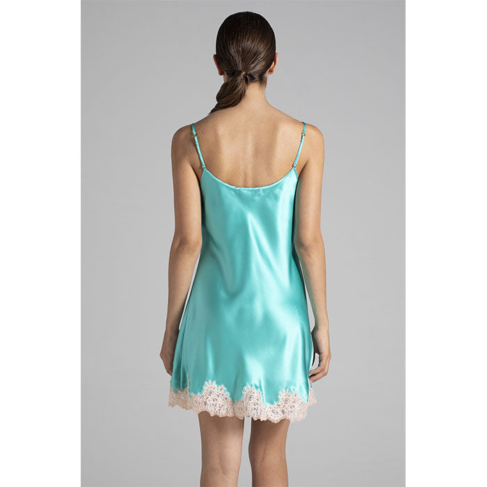 Silk Slipdress Emerald - Verdiani - Evellier