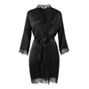 Scarlett Short Wrap Gown Black - Sainted Sisters - Evellier