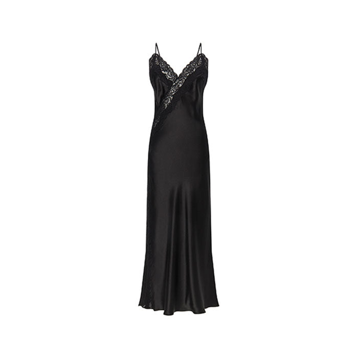 Diamond Silk Long Nightdress - Ipek Kiramer - Evellier