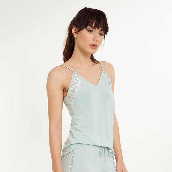 Horizon Spaghetti Top with Lace - Lingadore - Evellier
