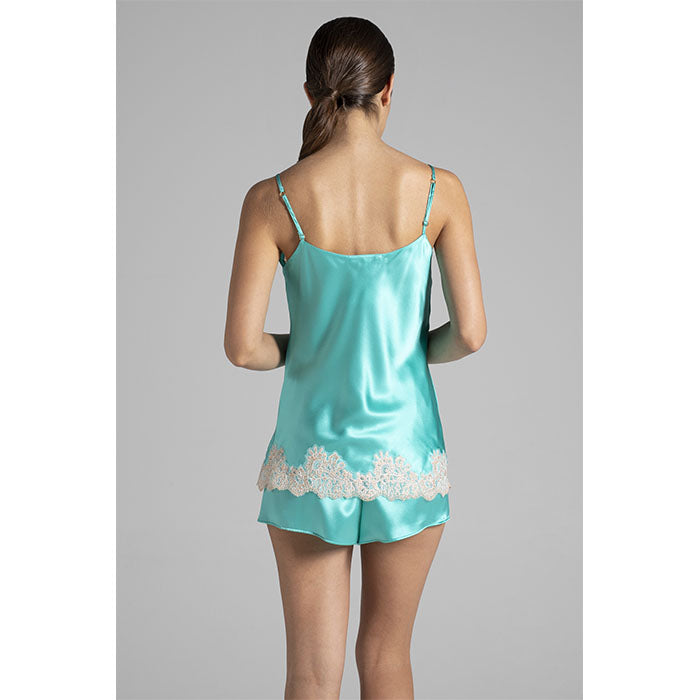 Silk Top + Shorts Emerald - Verdiani - Evellier