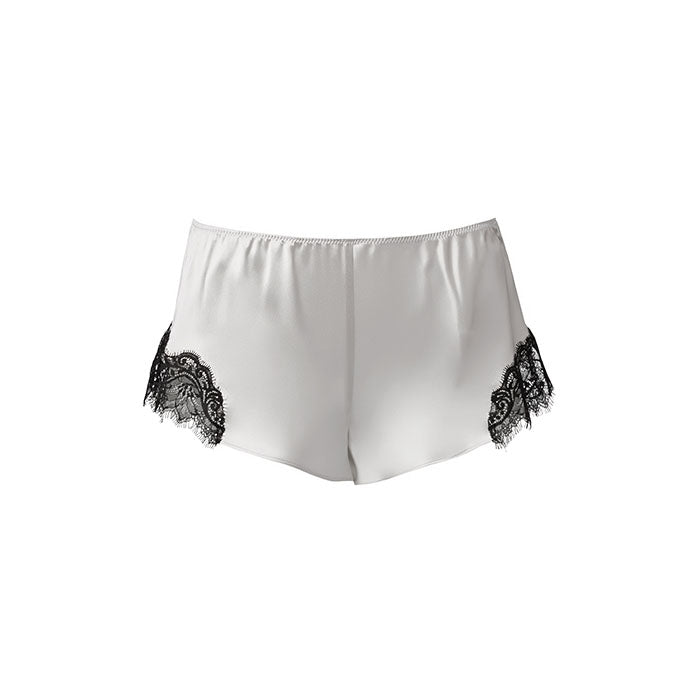 Scarlett French Knicker Silver/Black - Sainted Sisters - Evellier