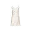 Diamond White Silk Short Nightdress - Ipek Kiramer - Evellier