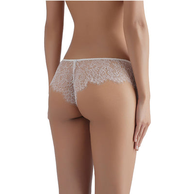 Sandra Signature Silk and Chantilly Lace Briefs White - Sandra Silk - Evellier