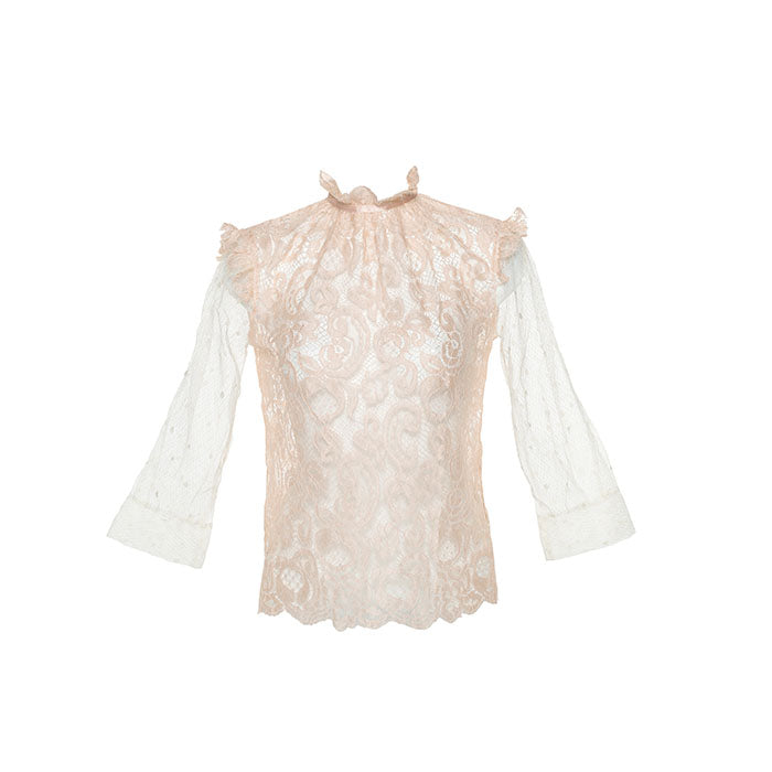 Vendome Sheer Top - Les Jupons De Tess - Evellier