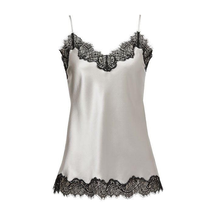 Scarlett Camisole Silver/Black - Sainted Sisters - Evellier
