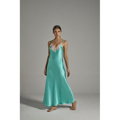 Silk Nightdress Emerald - Verdiani - Evellier