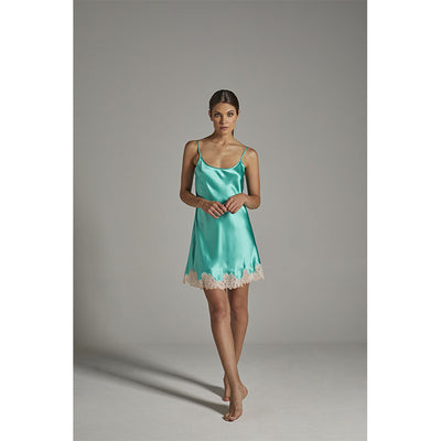 Silk Slip Dress Emerald - Verdiani - Evellier