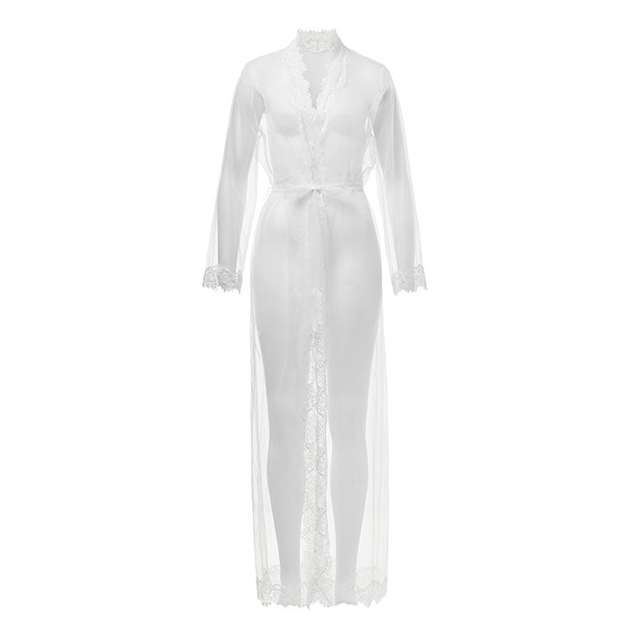 Olivia Long Wrap Gown Ivory - Sainted Sisters - Evellier