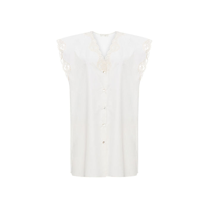 Holy Cotton Short Nightdress - Ipek Kiramer - Evellier